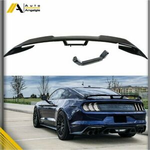 For 2015 2020 Ford Mustang S550 Painted Glossy Black Gt Style Trunk Spoiler Wing Fits Mustang