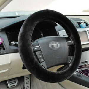 Car Truck Steering Wheel Cover Soft Plush Warm Fuzzy Fluffy Thick Faux Fur New