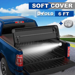 6ft Tri Fold Soft Truck Bed Tonneau Cover For 2005 2015 Toyota Tacoma Waterproof