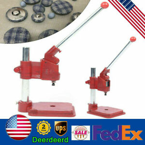 Cloth Buckle Machine Press Mold Tool Red Hand Press Machine DIY Buttons 4.1kg $60.80