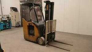 Yale Electric Stand Up Forklift 3800 Lbs Cap W out Battery 1445 Hrs Height 198 8