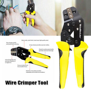 Crimping Tool Wire Crimper Plier Ratchet Terminal Insulated Cable Connectors