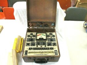 Vintage Precision 912 Tube Tester For Radio With Adapters Wooden Manuals