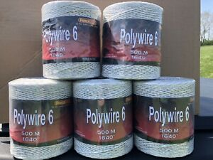 5 Rolls 1650 Polywire 6 Strand Stainless Steel Made In The Usa