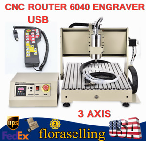 Usb 3 Axis Cnc Router 6040 Engraver Engraving Machine Woodwork 1500w controller