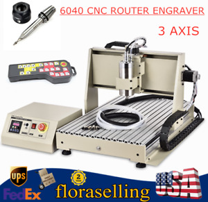 Cnc Router 6040 3 Axis Engraver Engraving Machine Woodwork Drilling 1500w Vfd