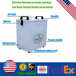 Smoke Purifier 110v 80w Pure Air Fume Extractor For Cnc Laser Engraving Machine