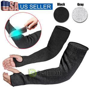 2xcut Proof Cut Heat Resistant Sleeves Gloves Outdoor Work Safety Protective Arm