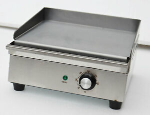 Preasion Commercial 110v Countertop Electric Griddle Flat Grill 1200w Teppanyaki