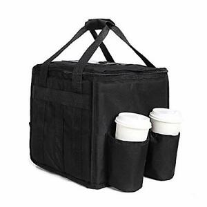 Large Insulated Food Delivery Bag With Cup 11 11 12 In 10 pizza Side 4 Cups