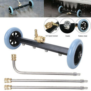 Pressure Washer Undercarriage Surface Cleaner 4000psi Power Broom Extension Wand