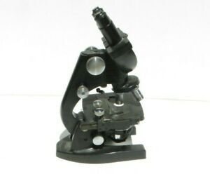 American Optical Binocular Ao Spencer 3 Stage Microscope B 35 58 With Lenses