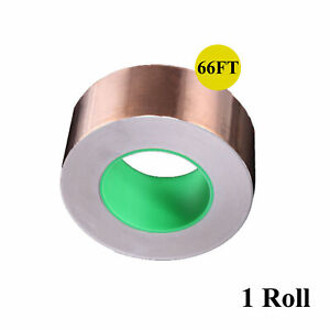 Copper Foil Tape With Conductive Adhesive For Guitar Emi Shielding Repair 66ft
