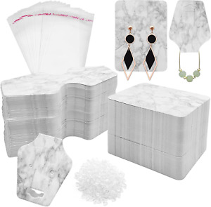 Marble Jewelry Display Cards For Necklace And Earrings 800pcs Jewelry Card Holde