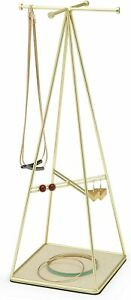 Umbra Prisma Jewelry Stand And Necklace Holder Brass