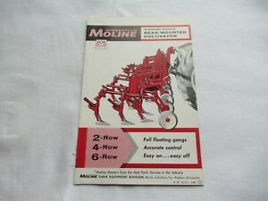 1961 Minneapolis Moline 3 point Hitch Rear mounted Cultivators Brochure
