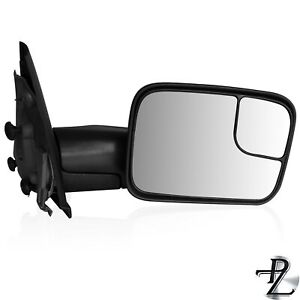 Towing Mirror For Dodge Ram 2002 2008 Manual Without Signal Black Pair Set