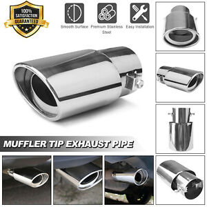 Car Exhaust Pipe Tip Tail Muffler Stainless Steel Replacement Round Accessories Fits 2006 Mazda 3