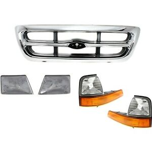 New Grille Grill Set Of 5 Front For Ford Ranger 1998 2000