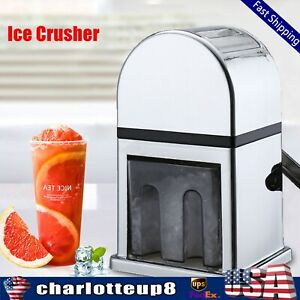 Commercial Ice Shaver Machine Snow Cone Maker Stainless Steel Shaving Crusher Us