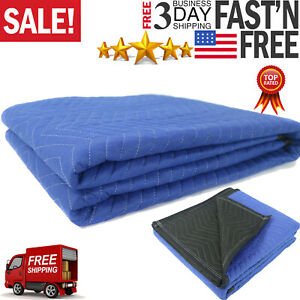 Moving Blankets 80 X 72 40 Lb dz Quilted Shipping Furniture Pads Bl blk New