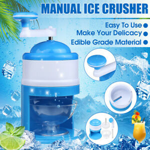 Summer Ice Crusher Shaver Portable Manual Block Shaving Machine Snow Cone Shaved