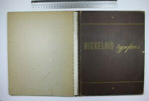 Nickeloid Typefaces Type Specimen 1950s Ink And Paint Stains Rebound Incomplete