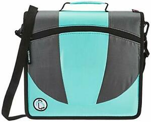 Case it The Dual 2 in 1 Zipper Binder Two 1 5 Inch D rings Includes Penci
