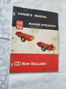 New Holland 510 516 Manure Spreader Owners Manual Farm Machinery