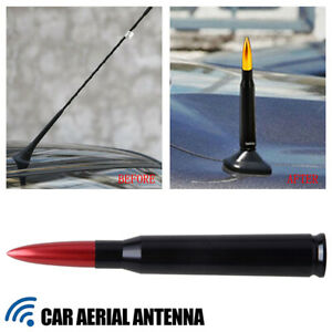 Bullet Antenna 50 Cal Red For Dodge Ram 1500 Ford F150 F250 Chevy Silverado
