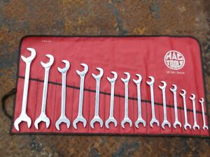 Mac Tools Da Wrenches 14 Piece Set Four Way Open End Angle 3 8 Though 1 1 4 Sae