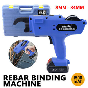 Automatic Handheld Wire Rebar Tying Machine 8 34mm Steel Strapping Tying Tool