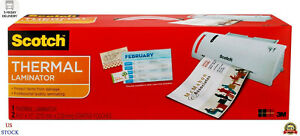 Scotch Thermal Laminator Plus 2 Letter Size Pouches tl902 Fast Shipping Us