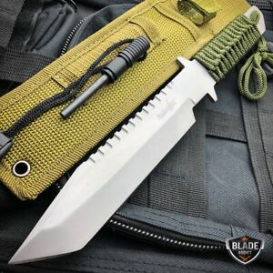 11quot; Military Hunting Tactical FIXED BLADE Survival Knife Bowie Firestarter SET $10.95