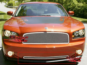 Fits 2005 2010 Dodge Charger Bumper Stainless Steel Mesh Grille Fits 2010 Dodge Charger