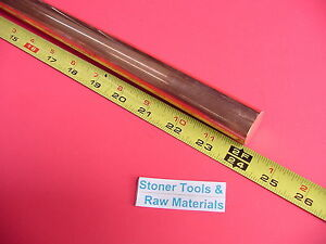 1 C110 Copper Round Rod 24 Long H04 Solid 1 00 Od Cu New Lathe Bar Stock