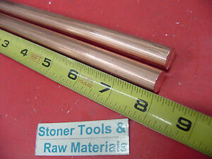 2 Pieces 1 2 C110 Copper Round Rod 8 Long H04 Solid Cu New Lathe Bar Stock