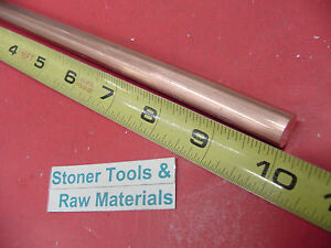 1 2 C110 Copper Round Rod 10 Long H04 Solid 50 Od Cu New Lathe Bar Stock