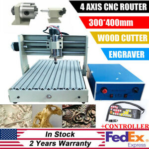 3040t 4 Axis Cnc Router Engraver Machine 3d Cutter Drilling Carving Controller