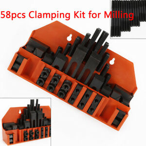 58x Clamping Kit Set For Drilling Milling Machine T slots Step Block Clamping