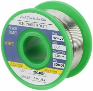 Lead Free Solder Wire Sn99 3 Cu0 7 With Rosin Core For Electronic 1 76oz 1 0mm