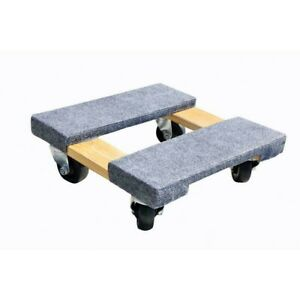 Furniture Dolly Appliance Mover Rolling Wheels Wood 800 Pound Capacity Home