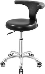 Rolling Stool Task Chair Drafting Adjustable With Wheels And Backrest Heavy Duty