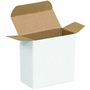 Aviditi White Folding Gift Boxes 3 X 2 X 3 Pack Of 500 Easy To Assemble Re