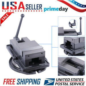 4 Inch Bench Clamp Lock Vise With 360 Swivel Base Milling Machine Usa