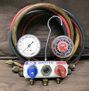 Yellow Jacket Brute A c Manifold Gauges And Hoses Robinair