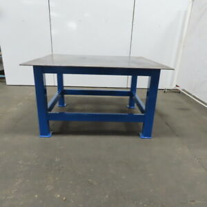 1 2 Thick Top Steel Fabrication Welding Layout Table Work Bench 64 lx54 wx36 h