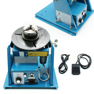 Rotary Welding Positioner Turntable Table 2 5 3 Jaw Lathe Chuck 2 10 Rpm 10kg