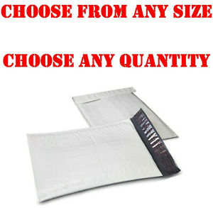 Lot 10 50 100 White Poly Bubble Padded Envelopes Mailers Self seal Wholesale