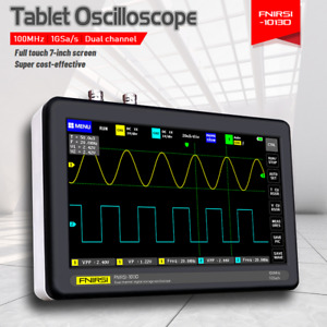 Portable Fnirsi 1013d Tablet Oscilloscope Dual channel Digital 7 Touch Panel